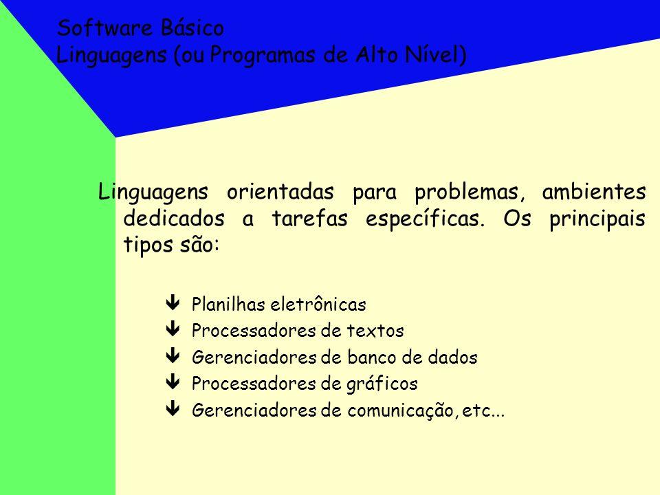 Software Básico Linguagens (ou Programas de Alto Nível)