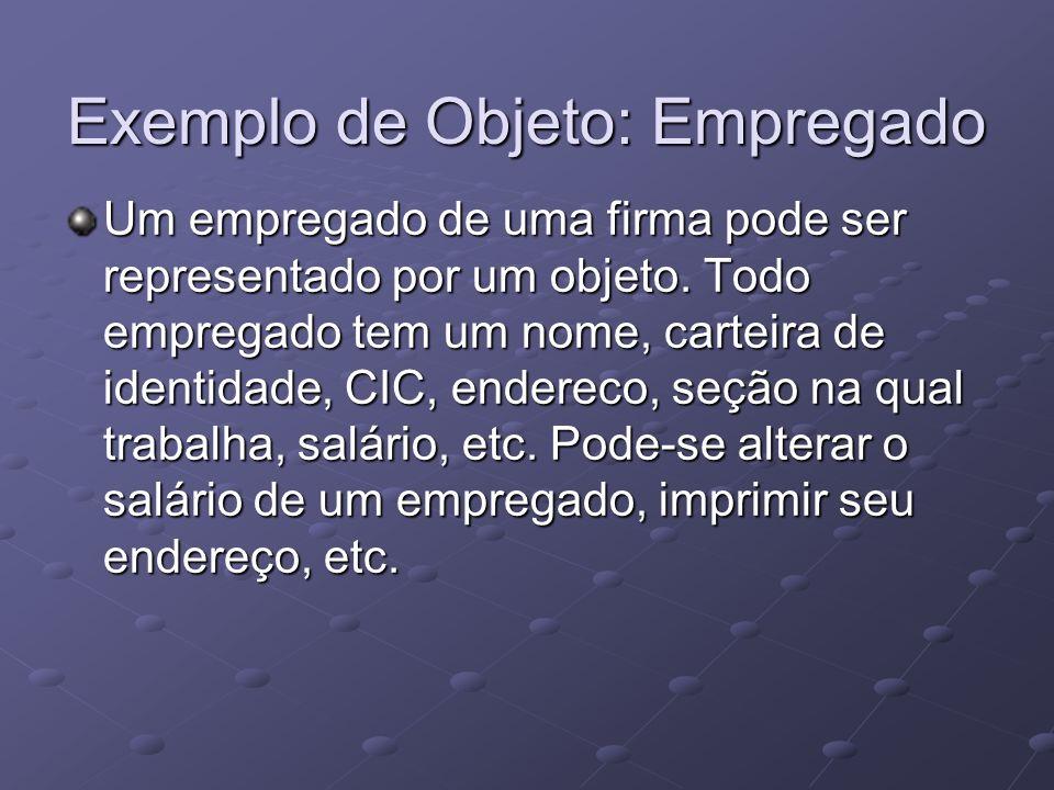 Exemplo de Objeto: Empregado