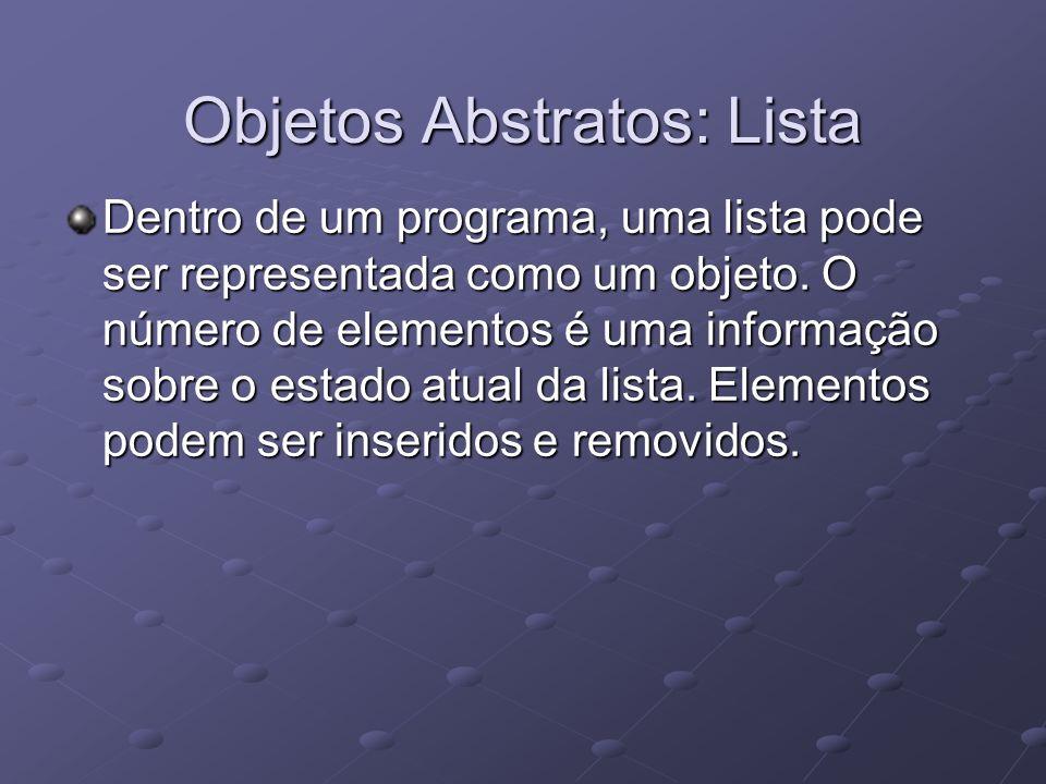 Objetos Abstratos: Lista