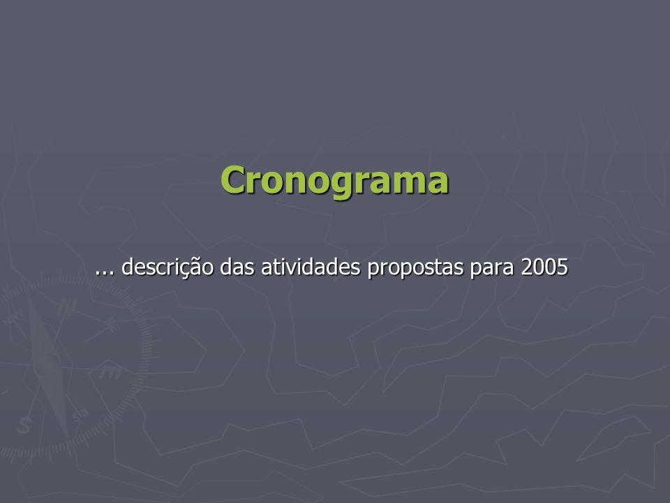 ... descrição das atividades propostas para 2005