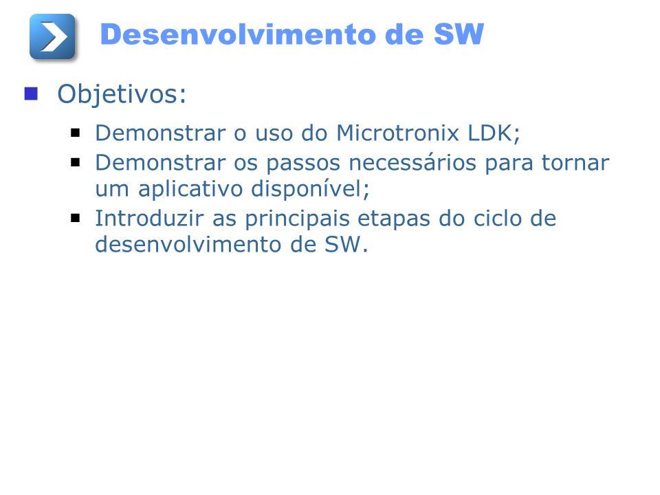 Desenvolvimento de SW Objetivos: Demonstrar o uso do Microtronix LDK;