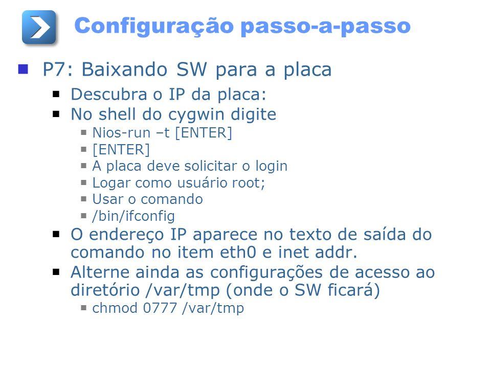 Configuração passo-a-passo