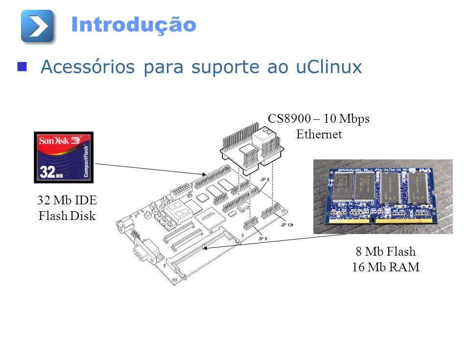 Introdução Acessórios para suporte ao uClinux