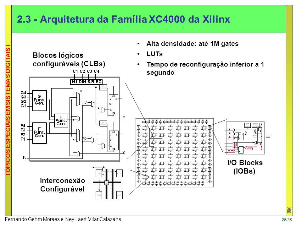 2.3 - Arquitetura da Família XC4000 da Xilinx
