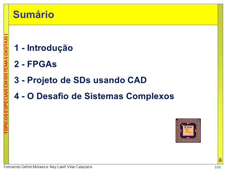 Sumário 1 - Introdução 2 - FPGAs 3 - Projeto de SDs usando CAD