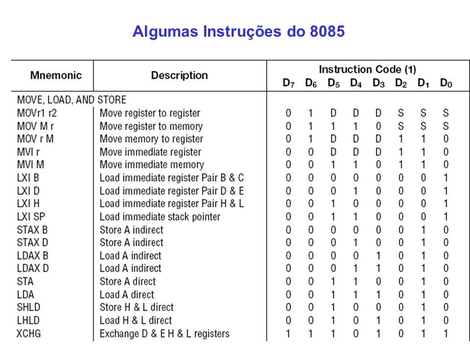 Algumas Instruções do 8085