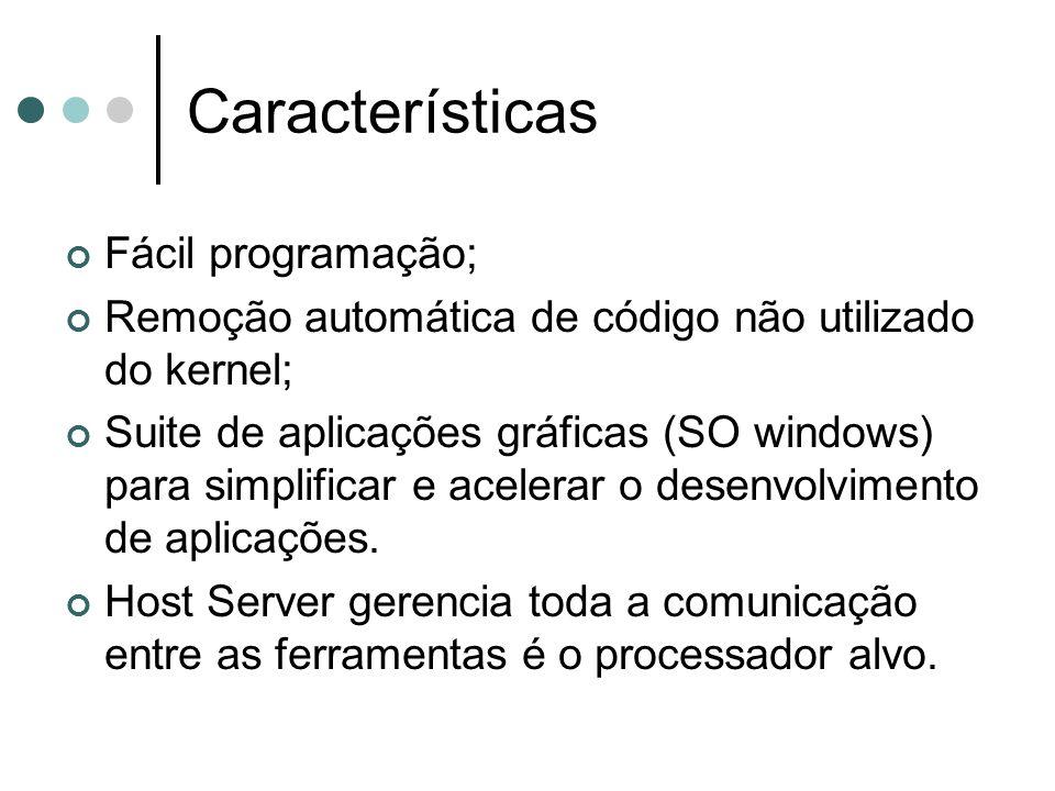 Características Fácil programação;