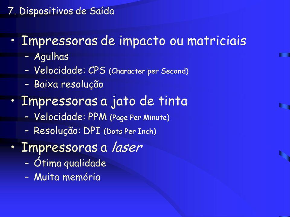 Impressoras de impacto ou matriciais
