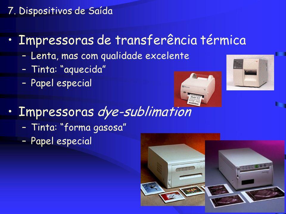 Impressoras de transferência térmica