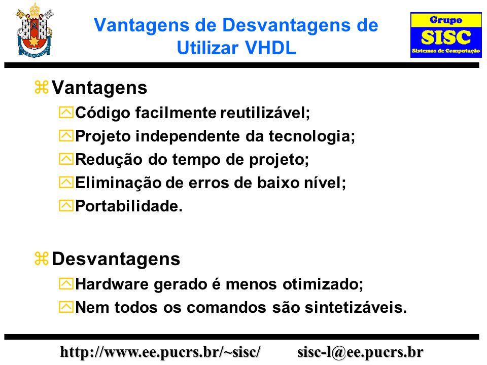 Vantagens de Desvantagens de Utilizar VHDL