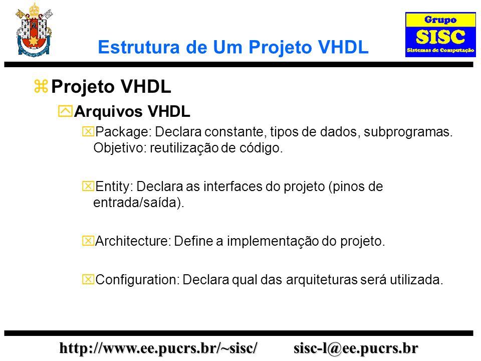 Estrutura de Um Projeto VHDL