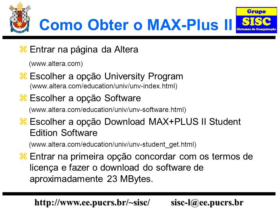 Como Obter o MAX-Plus II