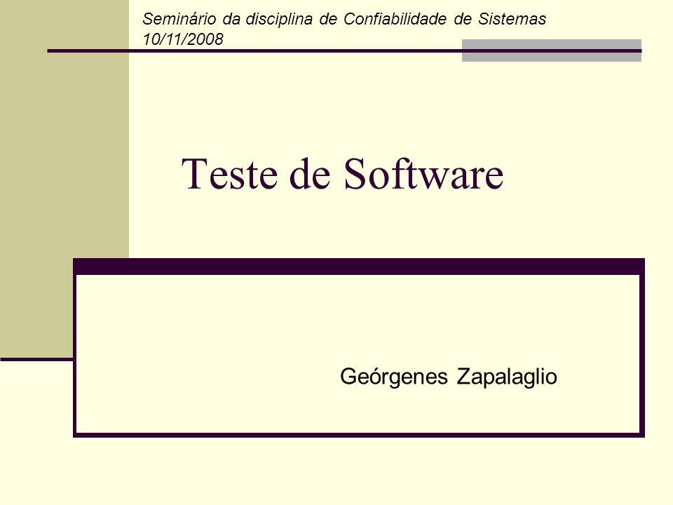 Teste de Software Geórgenes Zapalaglio