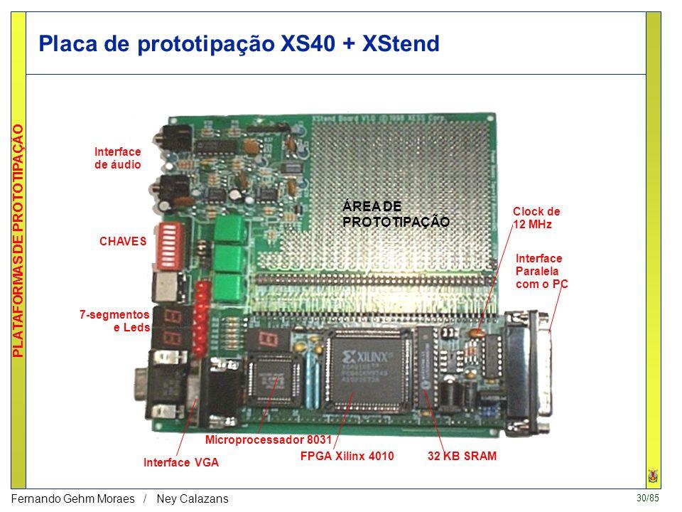 Placa de prototipação XS40 + XStend