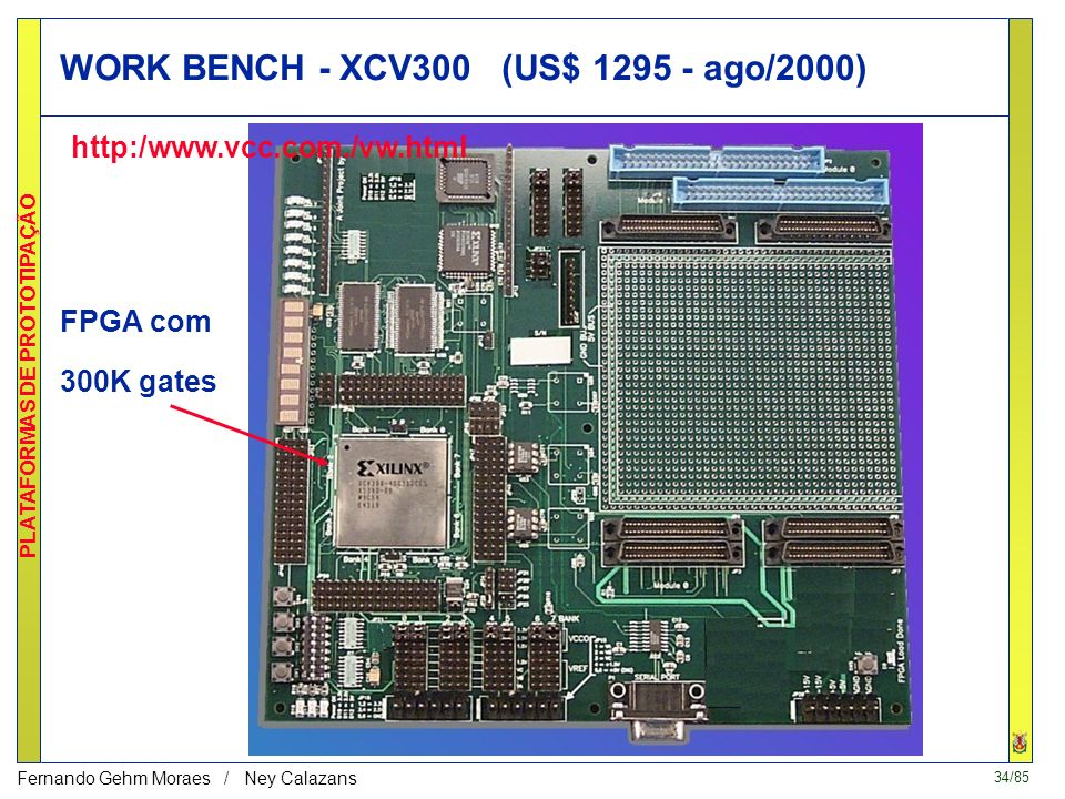 WORK BENCH - XCV300 (US$ 1295 - ago/2000)