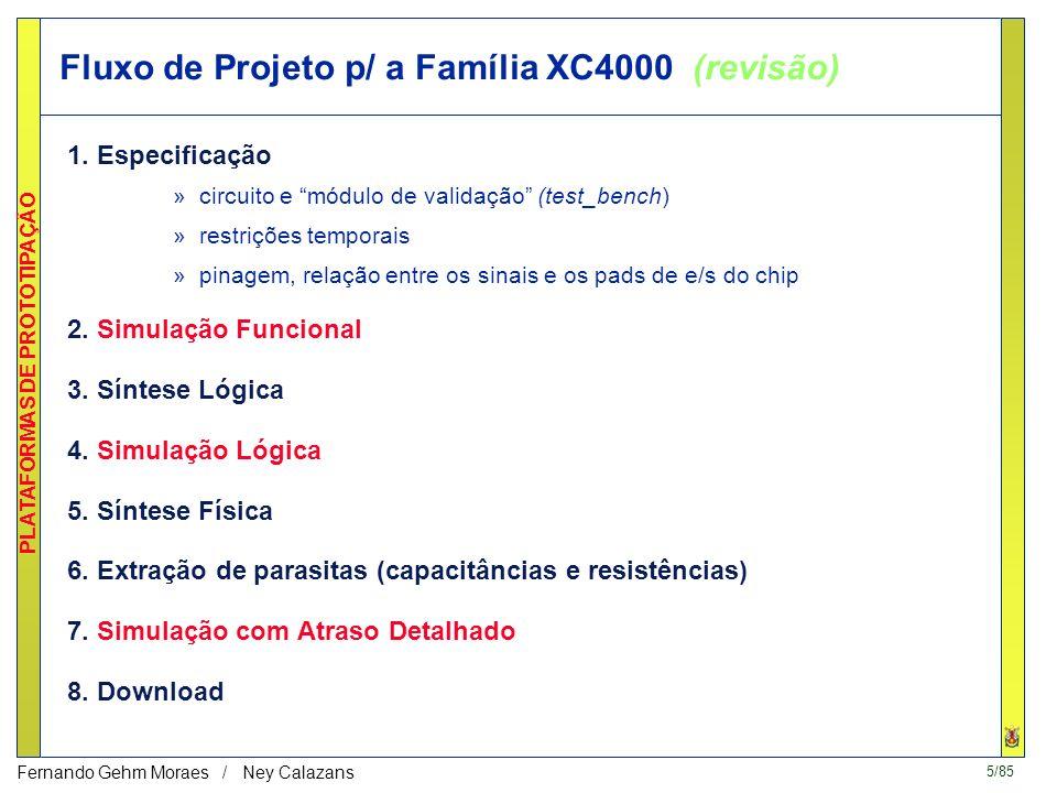 Fluxo de Projeto p/ a Família XC4000 (revisão)
