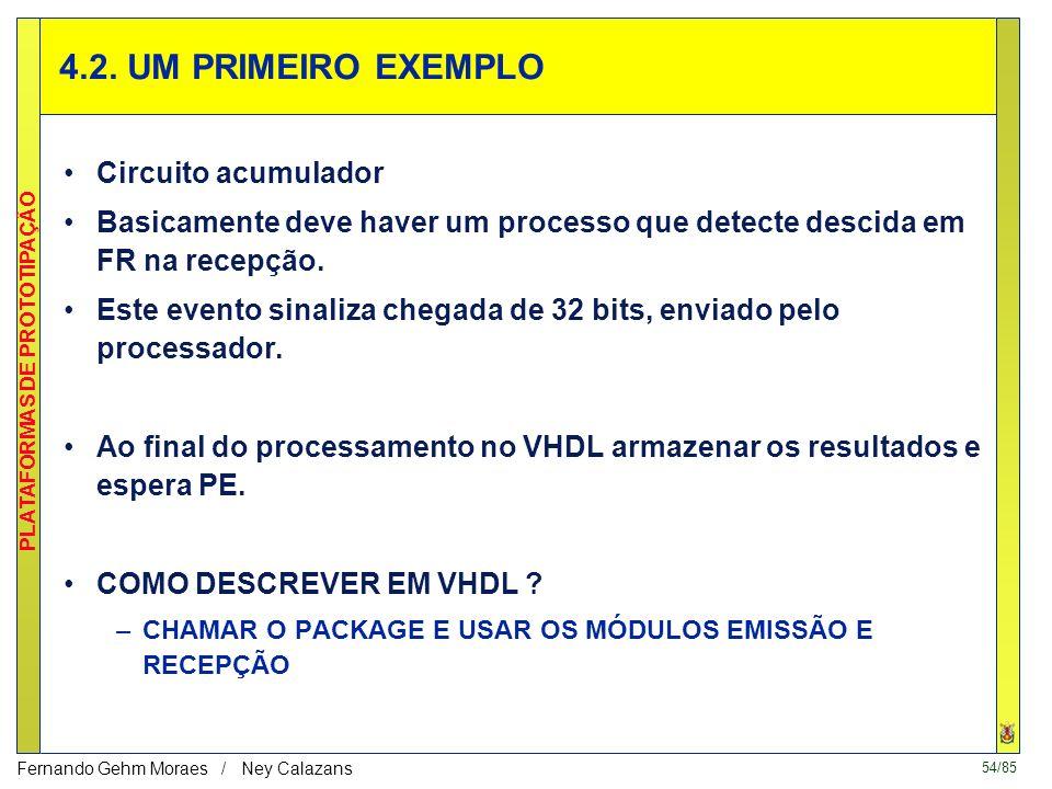 4.2. UM PRIMEIRO EXEMPLO Circuito acumulador