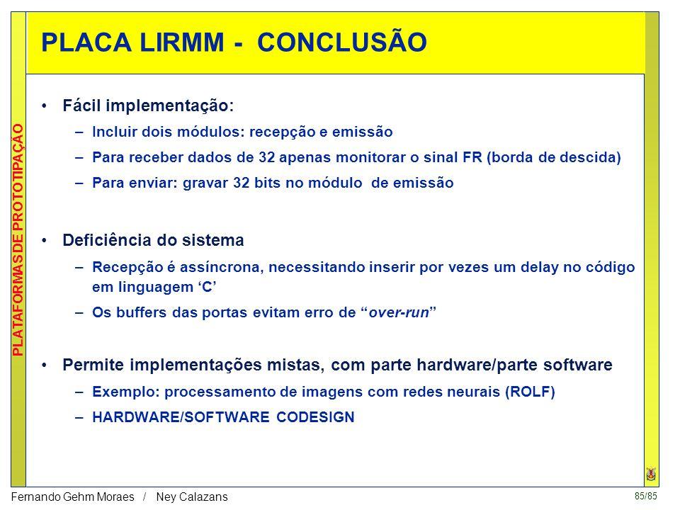 PLACA LIRMM - CONCLUSÃO