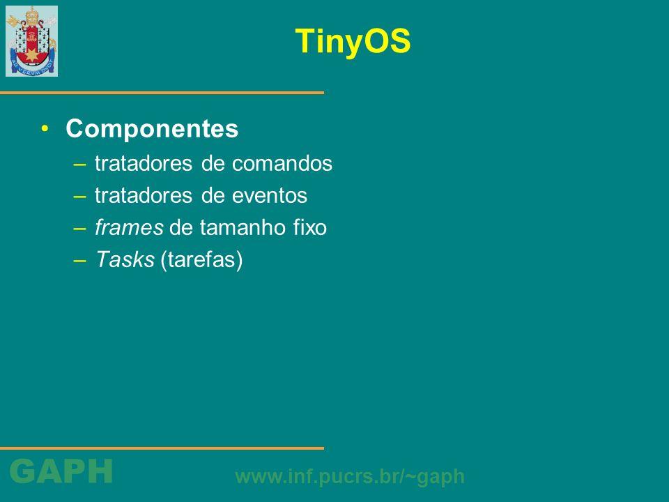 TinyOS Componentes tratadores de comandos tratadores de eventos