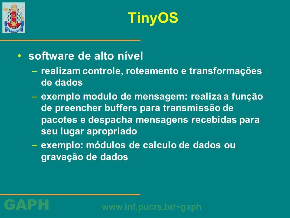 TinyOS software de alto nível