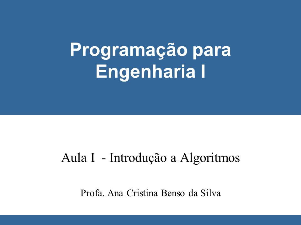 Programação para Engenharia I