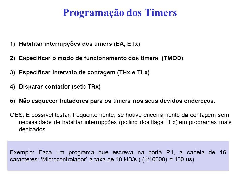 Programação dos Timers
