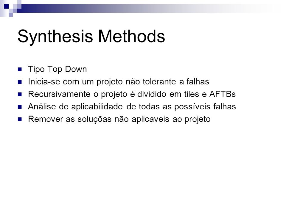 Synthesis Methods Tipo Top Down