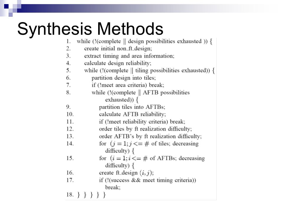 Synthesis Methods