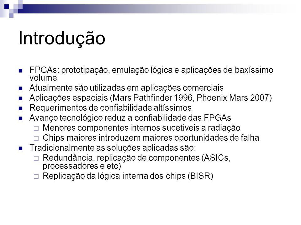 Introdução FPGAs: prototipação, emulação lógica e aplicações de baxíssimo volume. Atualmente são utilizadas em aplicações comerciais.