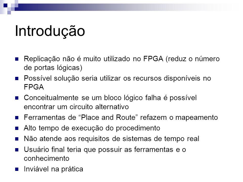 Introdução Replicação não é muito utilizado no FPGA (reduz o número de portas lógicas)