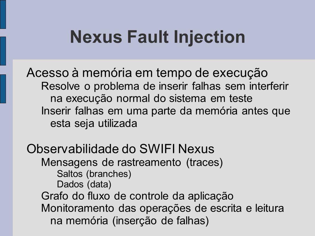 Nexus Fault Injection Acesso à memória em tempo de execução