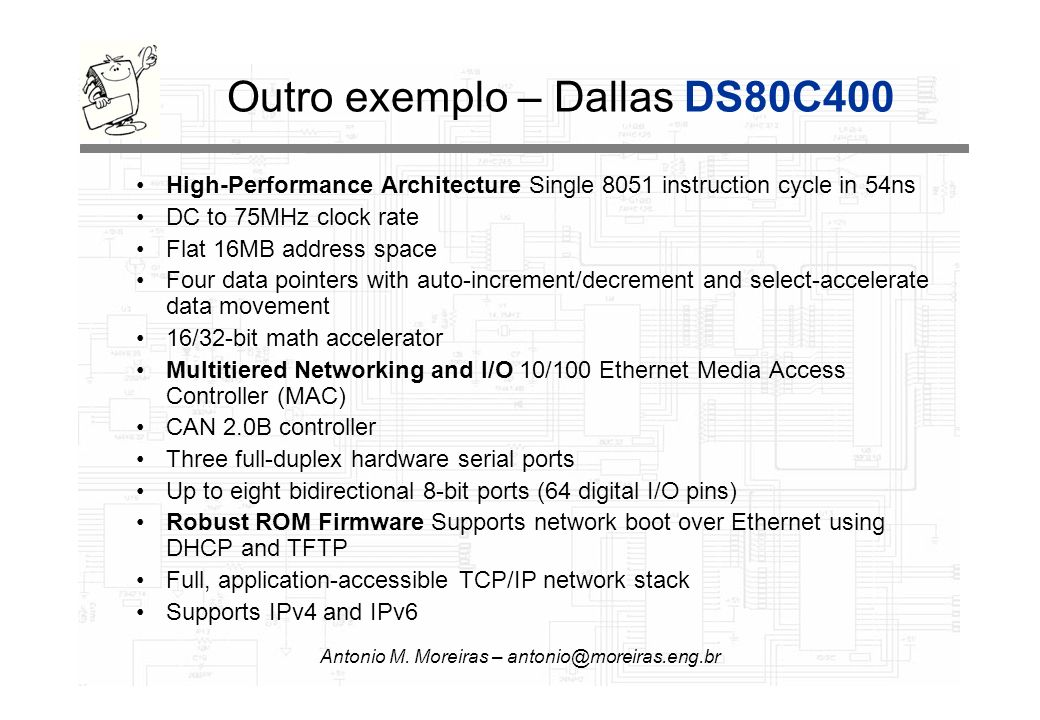 Outro exemplo – Dallas DS80C400