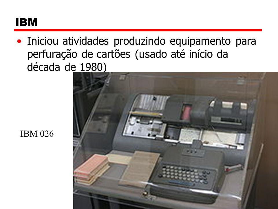 IBM Iniciou atividades produzindo equipamento para perfuração de cartões (usado até início da década de 1980)