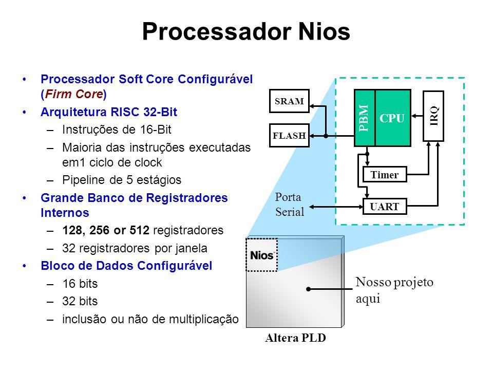Processador Nios Nosso projeto aqui