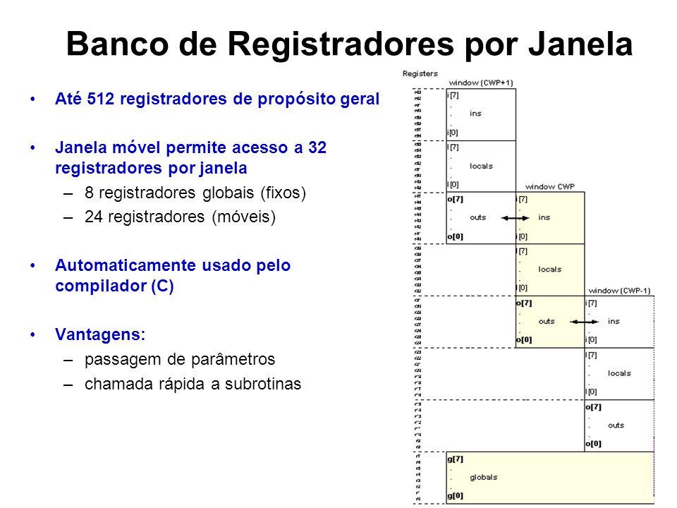 Banco de Registradores por Janela