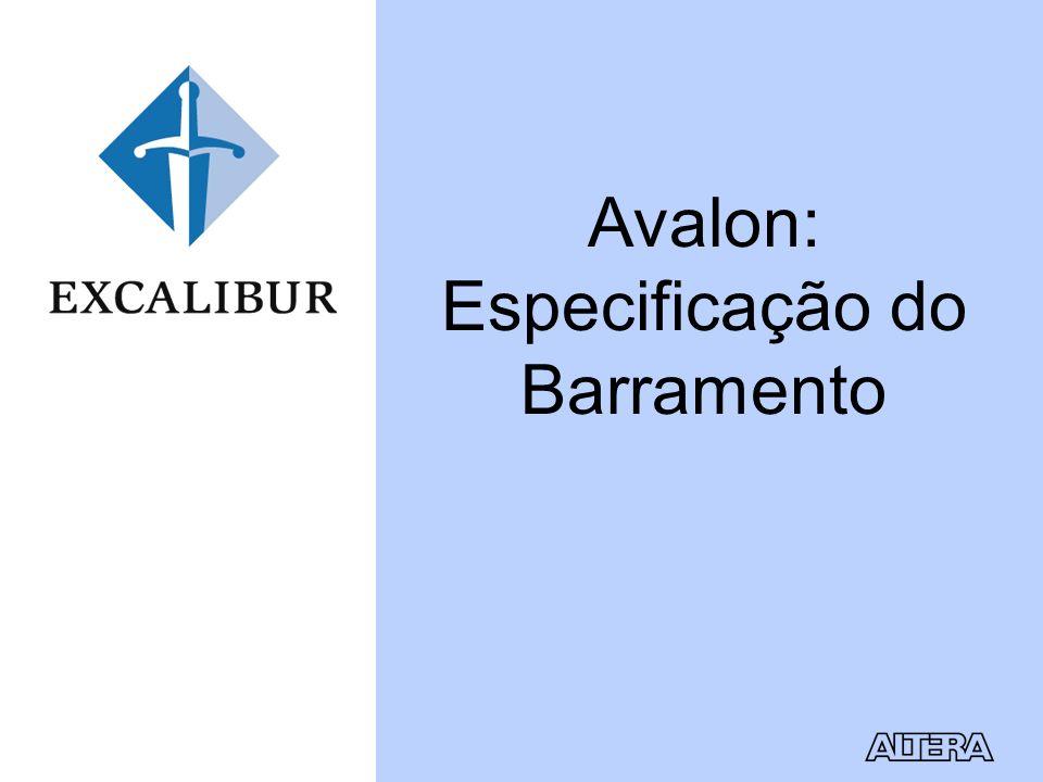 Avalon: Especificação do Barramento