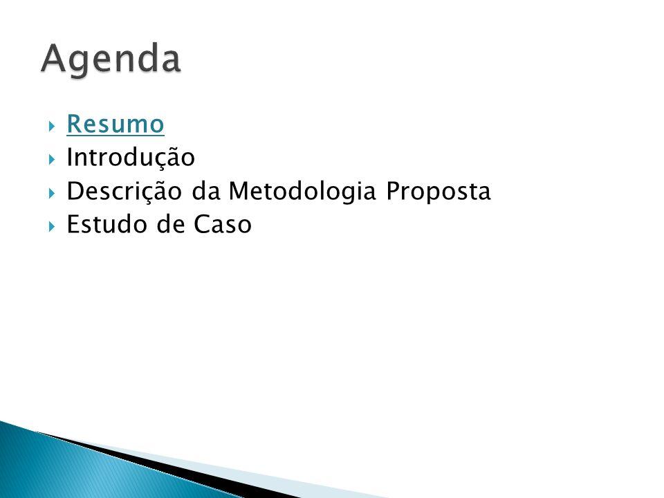 Agenda Resumo Introdução Descrição da Metodologia Proposta