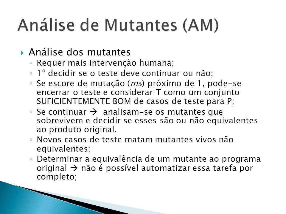 Análise de Mutantes (AM)