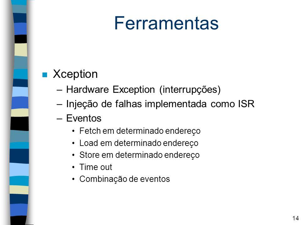 Ferramentas Xception Hardware Exception (interrupções)