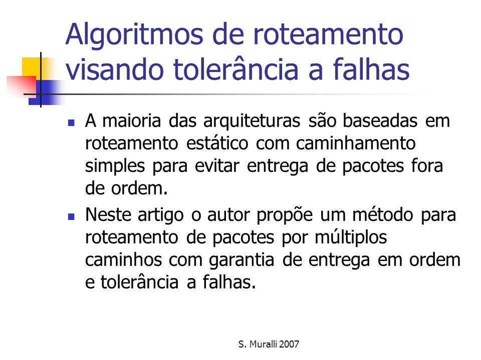 Algoritmos de roteamento visando tolerância a falhas