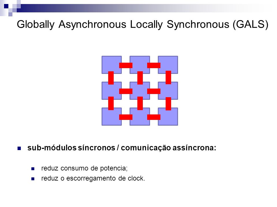 Globally Asynchronous Locally Synchronous (GALS)