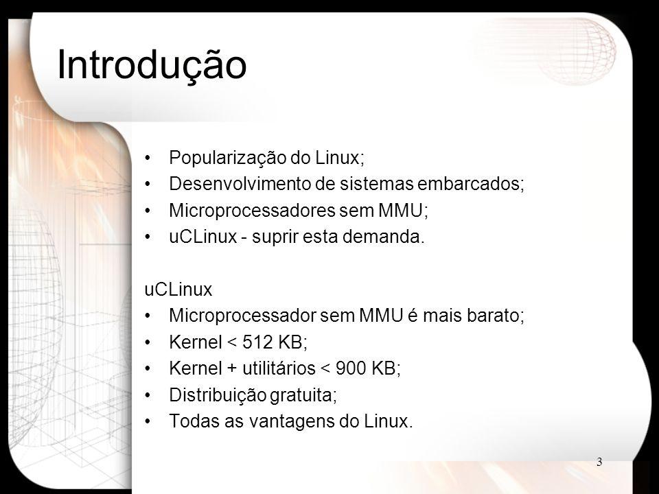 Introdução Popularização do Linux;