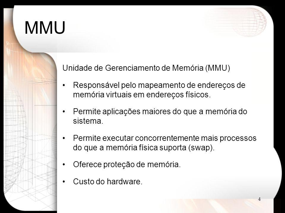 MMU Unidade de Gerenciamento de Memória (MMU)