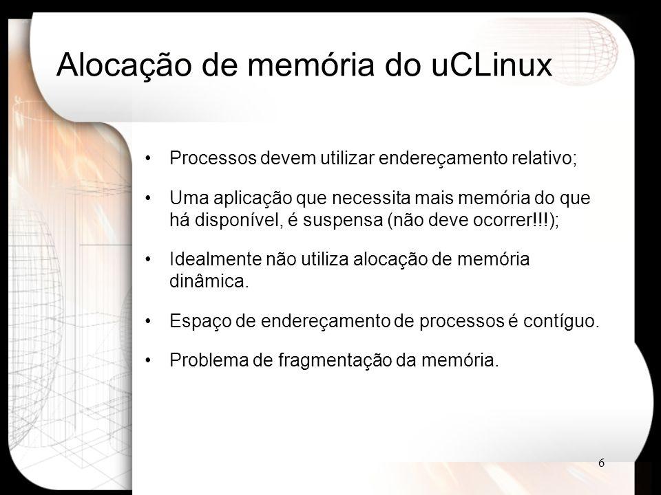 Alocação de memória do uCLinux