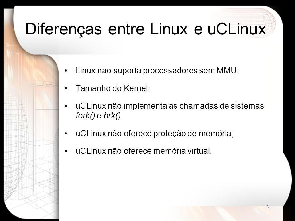Diferenças entre Linux e uCLinux