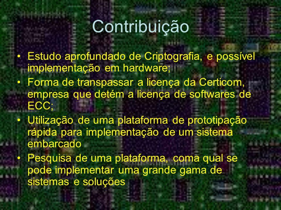Contribuição Estudo aprofundado de Criptografia, e possível implementação em hardware;