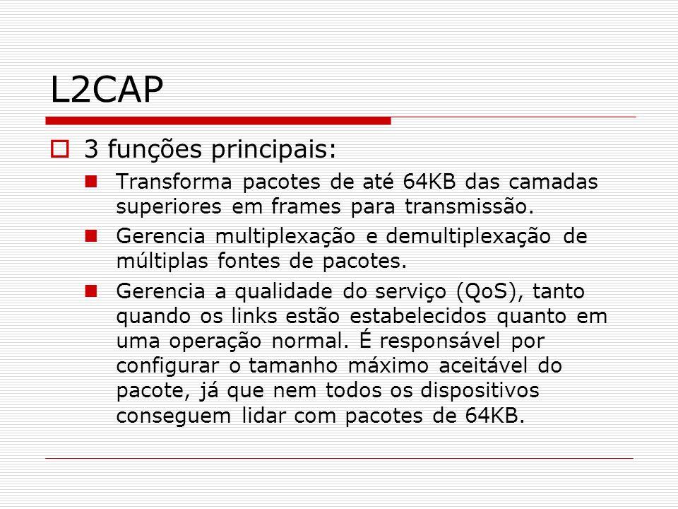L2CAP 3 funções principais: