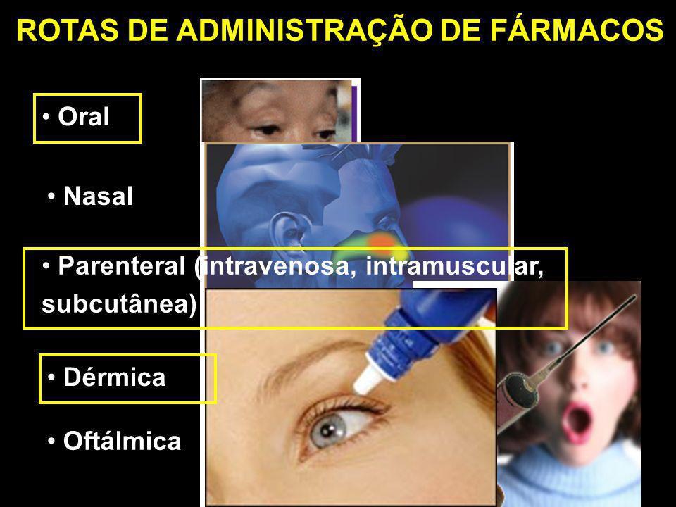 ROTAS DE ADMINISTRAÇÃO DE FÁRMACOS