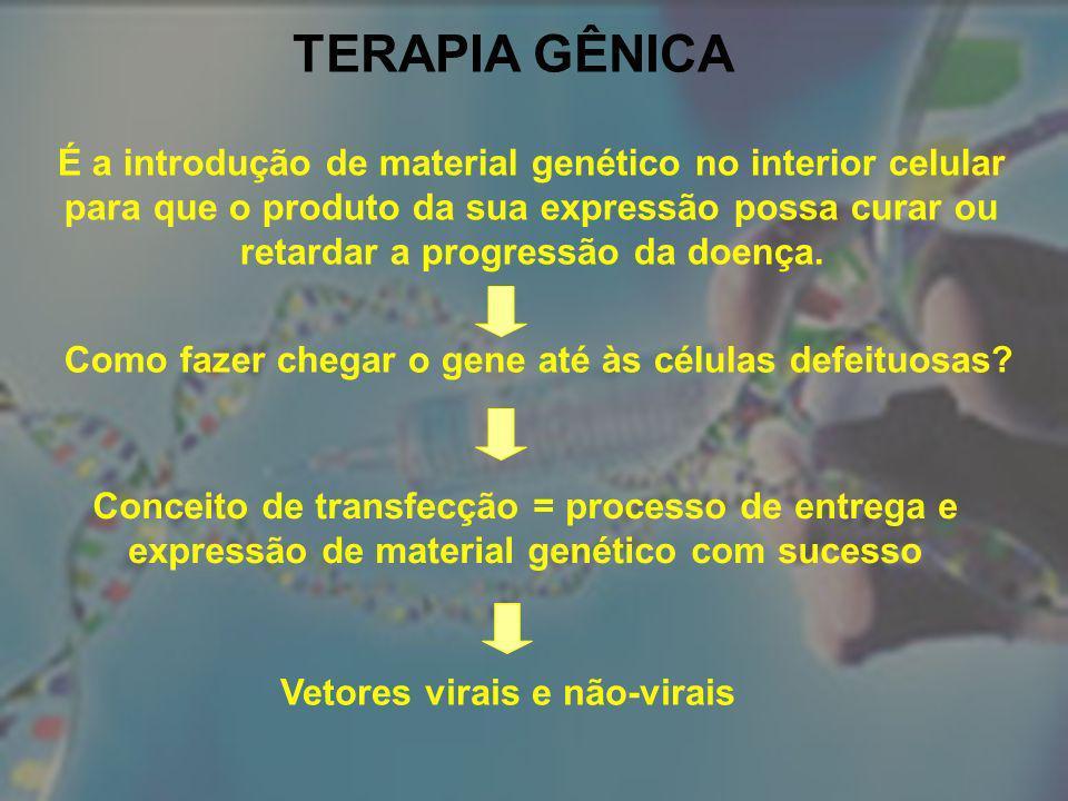 Como fazer chegar o gene até às células defeituosas