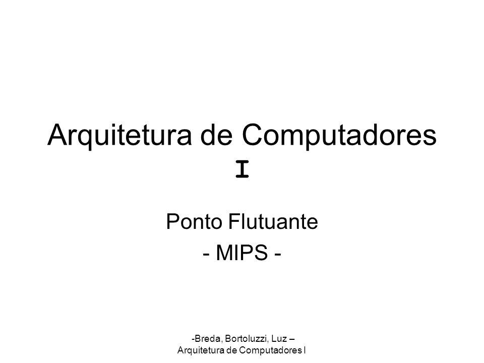 Arquitetura de Computadores I